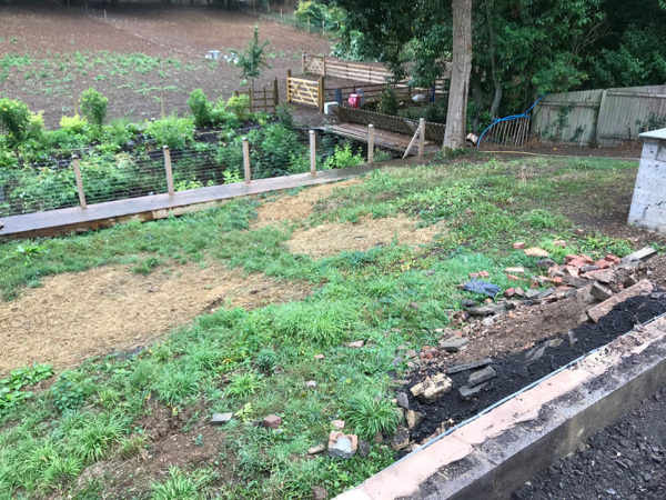 Before shot - Full garden landscaping
