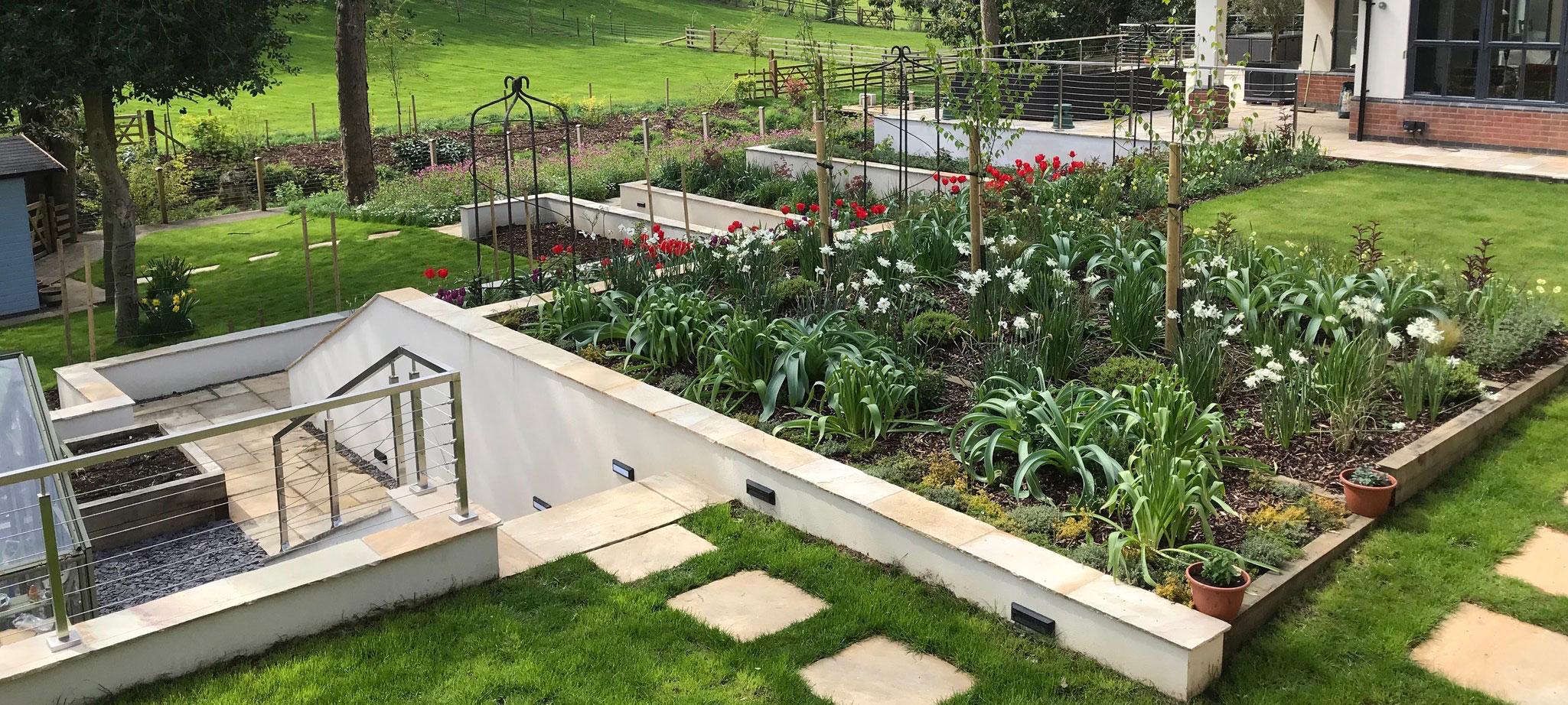 Multi Level Landscaped Garden