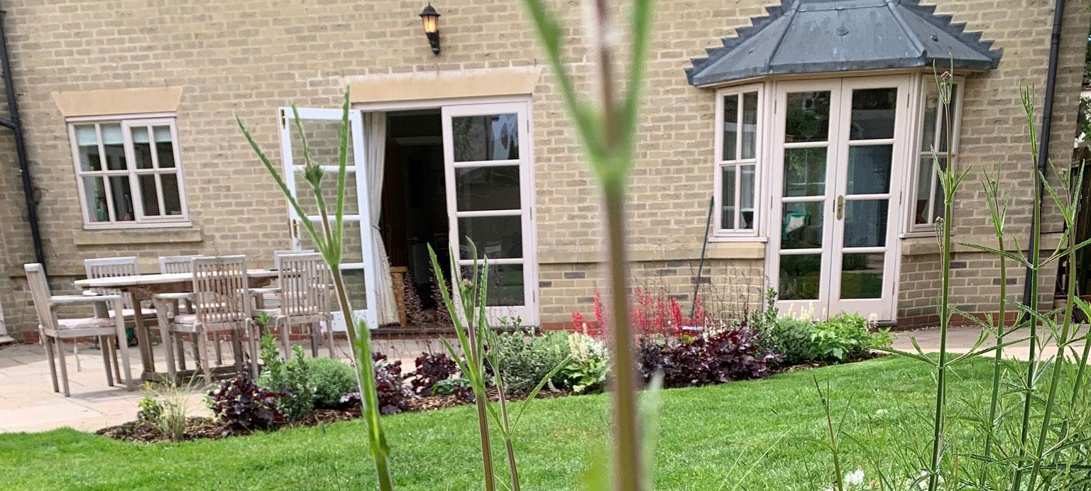 small garden banner